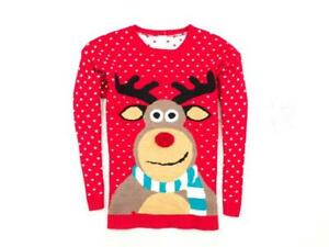 *k Merry Christmas Mens Sweather Red Size M