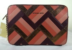 88e6abe99aa1 Image is loading Michael-Kors-Jet-Set-Marquertry-Patchwork-Large-EW-