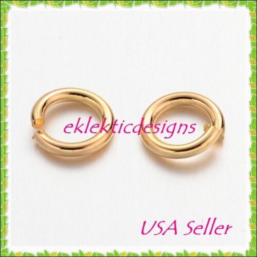 5mm 18gauge 100pcs BRASS Gold Plated Open Jump Rings Findings Earrings Necklace