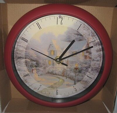 Thomas Kinkade The Night Before Christmas Clock 12 Musical Carols NIB