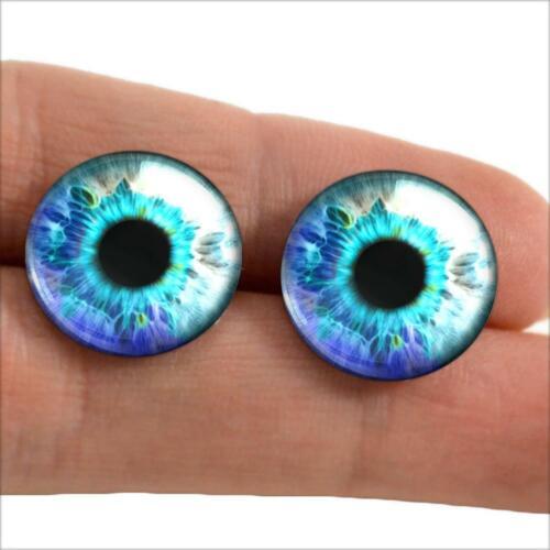 Arctic Blue Glass Eyes Realistic Taxidermy Doll Eyeballs 16mm