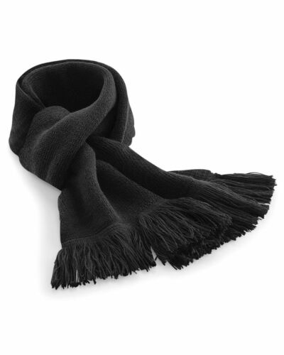 Beechfield Good Quality Mens Womens Classic Knitted Scarf Double Layer Knit