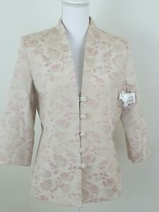 JACLYN-SMITH-Women-039-s-Size-10-PINK-BROCADE-Floral-Jacket-Blazer-Career-Coat-NWOT
