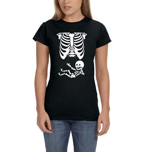 b73d73e5 Mother Mom Baby Skull Skeleton Pregnant Child Bones Funny Womens T ...