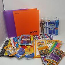 School Supplies Lot Paper Pens Highlighters Scissors Erasers Pencils ++ ALL NEW