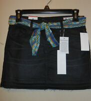 I Jeans By Buffalo Girls Denim Skirt + Sash Black Wash 12r