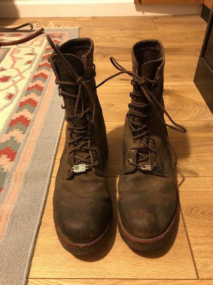 Chippewa  boots USA Made Mens Leather Lace Up Sz 8D