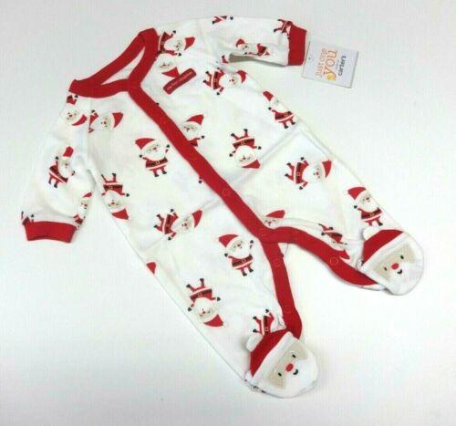 Baby Schlafanzug 50-56  Einteiler USA Weihnachten unisex neutral Weihnachtsmann