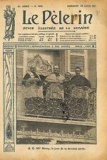 Portrait Mgr Paul-Émile Henry évêque de Grenoble Balcon  1911 ILLUSTRATION