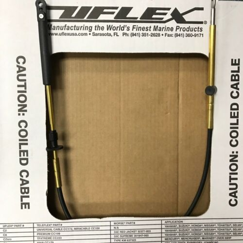 JOHNSON EVINRUDE OMC CONTROL CABLE UFLEX C14 SHIFT OR THROTTLE CABLE 14FT C14X14
