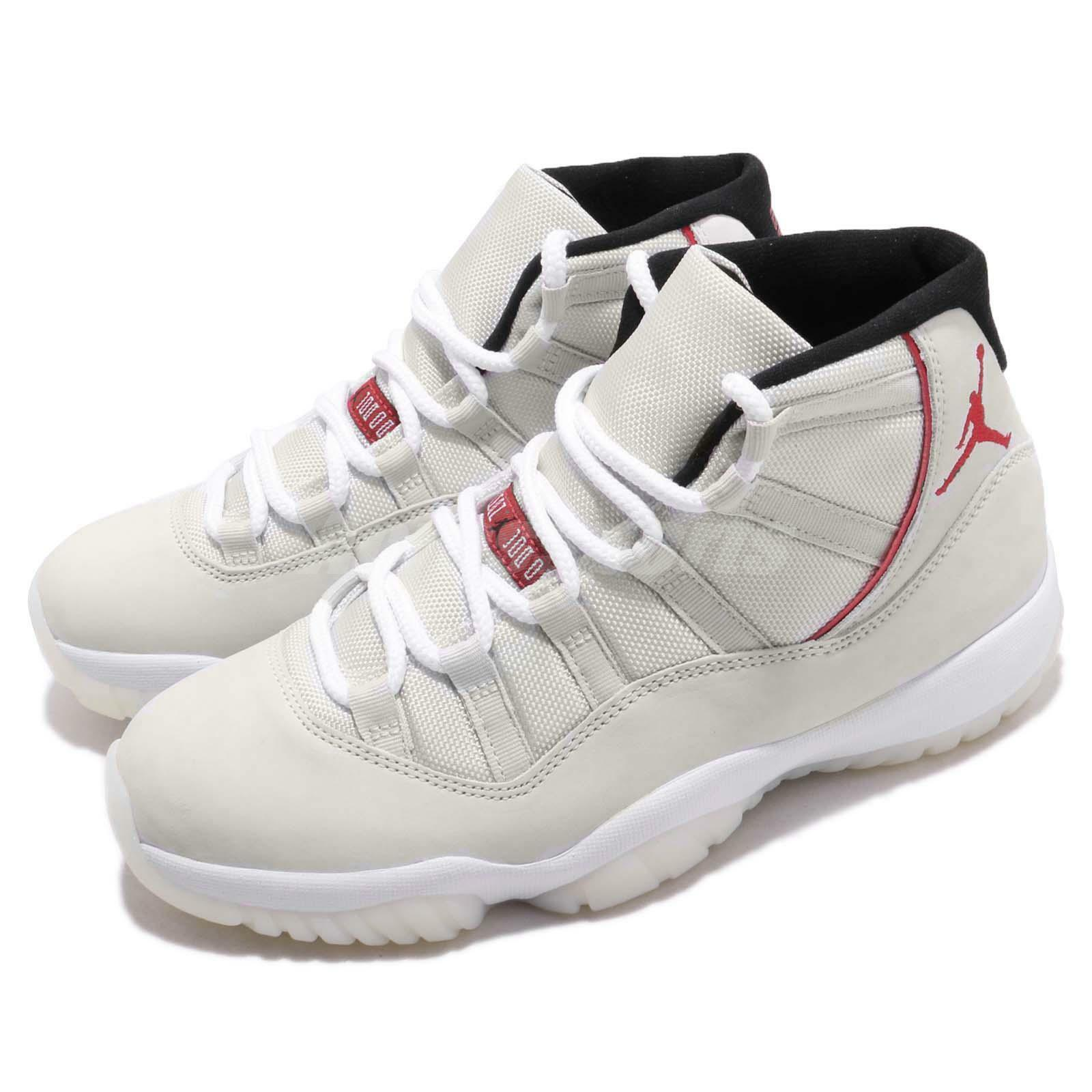 Nike Air Jordan 11 Retro Platinum Tint Sail University Red XI AJ11 378037-016