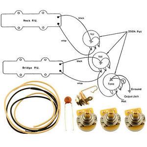 Nuevo Kit De Cableado Para Fender Jazz Bass Completo Con Diagrama Cts Switchcraft Ebay