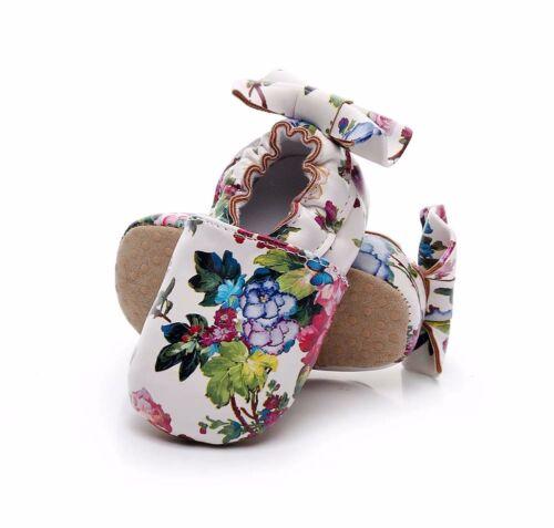 Newborn Baby Kids Girl Soft Sole Prewalker Leather Crib Shoes Anti-slip Moccasin