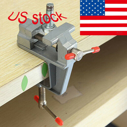 Mini Bench Vise Table Swivel Lock Clamp Vice Craft Hobby Aluminum 3.5 Inch USA