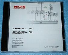 schéma circuit électrique sur CD Ducati DIAVEL ABS / DIAVEL Carbon ABS de 2011