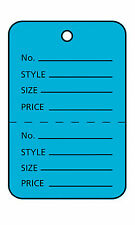 Blue Perforated Coupon Price Tags Unstrung 1w X 1h 1000 Tags