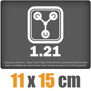 Flux-1-21-11-x-15-cm-JDM-decal-sticker-coche-car-blanco-discos-pegatinas