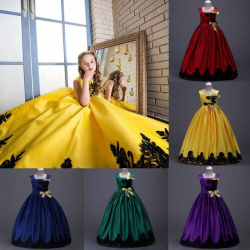 Kids Girls Party Princess Dress Wedding Bridesmaid Pageant Formal Prom Dresses