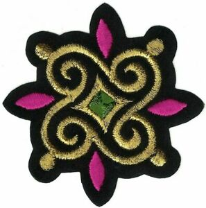 """2.75"""" Fancy Indian South Asian Crest Embroidery Patch SCA"""
