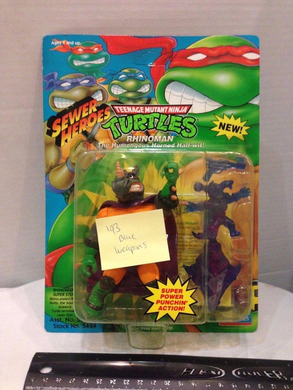 Teenage Mutant Ninja Turtles TMNT Rhinoman lila Weapon Variant