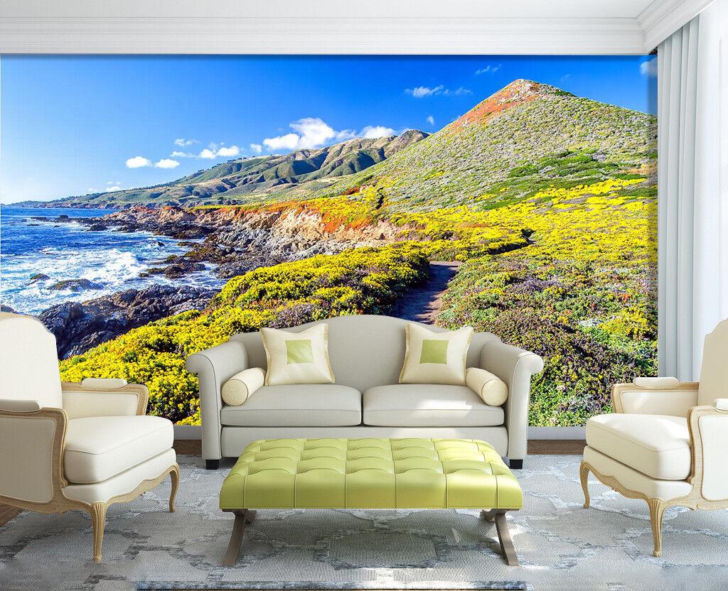 3D Hillside Ocean 75 Wall Paper Murals Wall Print Wall Wallpaper Mural AU Summer