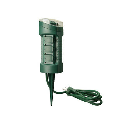Woods 59785 6-Outlet Power Stake w// Built-in Timer Remote FREE SHIPPING