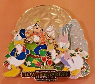 WDW Epcot International Flower Garden Festival 2014 Mickey Disney Pin 100337