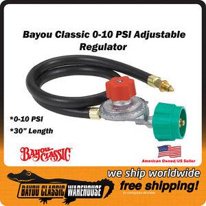 bayou classic 0 10 psi hi pressure lpg adjustable regulator with 30 hose 5hpr ebay. Black Bedroom Furniture Sets. Home Design Ideas