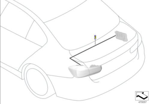 Genuine Bmw Retrofit Cable Set For Conversion Rear Lights