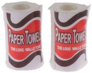 Miniature-Dollhouse-Set-Of-2-Paper-Towels-1-12-Scale-New