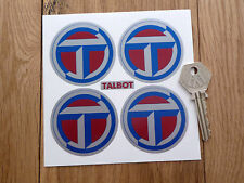 TALBOT Wheel Centre Style STICKERS 50mm Car Sunbeam Peugeot Sport Lotus Rally