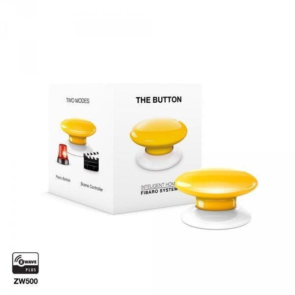 FIBARO - The Button Yellow FGPB-101-4, Z-Wave Plus