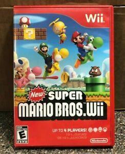New-Super-Mario-Bros-Wii-Nintendo-Wii-Complete-w-Manual-Clean-amp-Tested