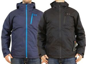 Under-Armour-Prime-Jacket-3-in-1-Insulated-Mens-M-L-XL-2XL-Black-Blue-UA-Winter