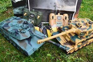 2.4ghz M1a2 Interactive Twin Battle Tank Rc Radio Remote Control Infrared 1:28 Ccdxxdlj-07155911-563743175