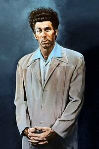 "SEINFELD Kramer `THE KRAMER ' painting blue CANVAS ART PRINT Poster 8"" X 12"""