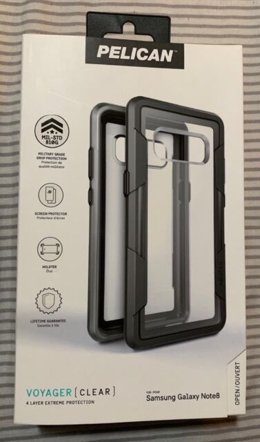 best cheap 12a10 281d1 Pelican Voyager Clear Case for Samsung Galaxy Note8 Note 8 With Holster