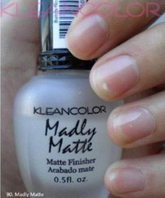 Kleancolor Madly Matte Clear Finisher Top Coat Nail Polish Manicure Pedicure 90