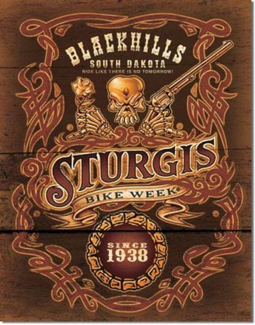 Blackhills Sturgis No Tomorrow TIN SIGN metal poster motorcycle bar decor 1509