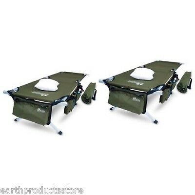 VALUE PACK!!! (SET OF 2) EARTH JAMBOREE MILITARY STYLE OUTDOOR CAMPING COTS