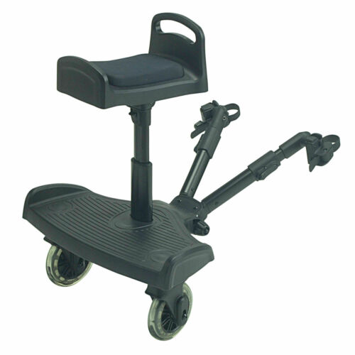 Black Ride On Buggy Board with Saddle For Silver Cross Linear
