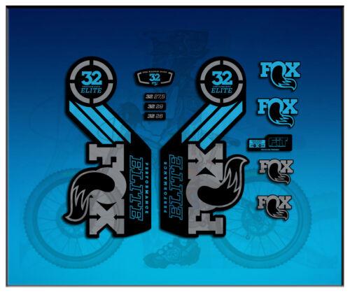 PEGATINAS STICKERS FORK FOX 32 PERFORMANCE ELITE AM99 AUFKLEBER DECALS ADESIVI