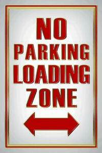 No-Parking-Loading-Zone-Tin-Sign-Shield-Arched-Tin-Sign-20-x-30-cm-CC1020
