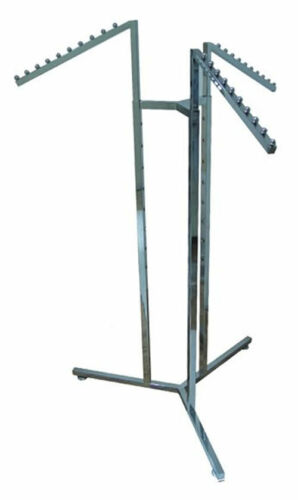 3 WAY SLOPING ARM HEAVY DUTY CLOTHES RAIL GARMENT DRESS SHOP STAND
