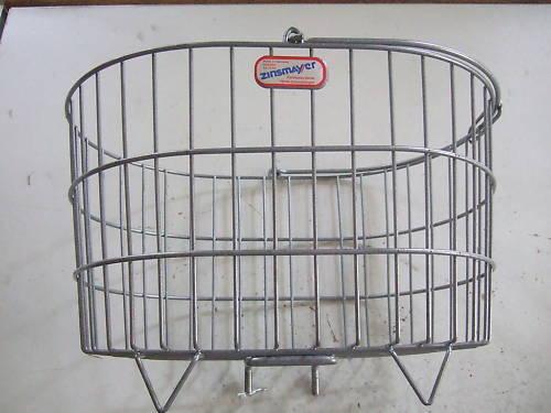 New zinsmayer basket, oval mesh wide titanium  color, 41x28x22cm,  wholesale price