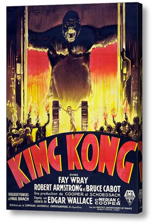 KING Kong 1933 francese riproduzione A3 MOVIE POSTER su Tela A4, A3, A2, A1