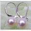 thumbnail 2 - gorgeous  a pair 10-11mm AAA south sea round white pearl dangle earring 14k