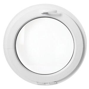 Fen tre ronde soufflet 50 55 60 70 80 90 100 110 120 cm pvc blanche ebay for Fenetre pvc 50 x 60
