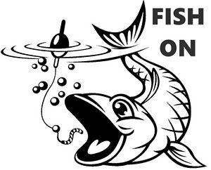 Les poissons, sur la carpe, mer, pêche à la mouche, Voiture, Van, bateaux, siège boîtes Decal, Autocollant  </span>