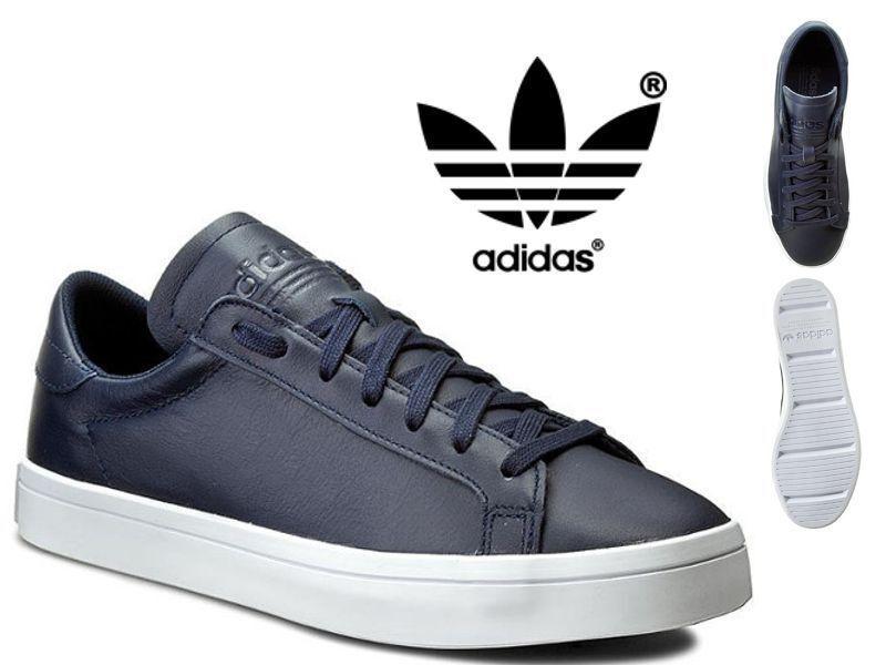 Adidas Originals Court Vantage Mens Leather Trainers schuhe - S76209 Navy